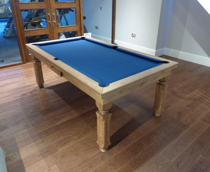 6ft English Modern Pool Table, Birch Wood #5 Matt, Hainsworth Smart Slate Cloth.