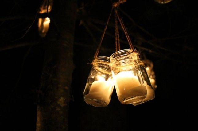 Love the look of these lanterns at night.