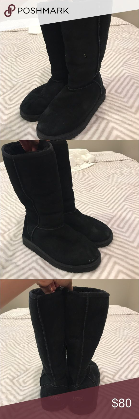 Ugg Classic Tall boot Used, but still has a ton of life in them as I live I hawaii and have only used them on trips UGG Shoes Winter & Rain Boots