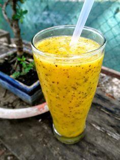 Smoothie para bajar el colesteror y adelgazar: Maracuyá + Piña + Mango +Chía