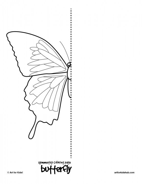 coloring page butterfly