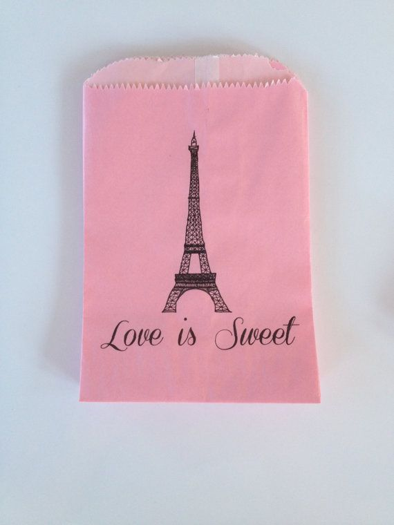Love is Sweet Eiffel Tower Gourmet Bags by LovebyThreeConcepts, $7.50
