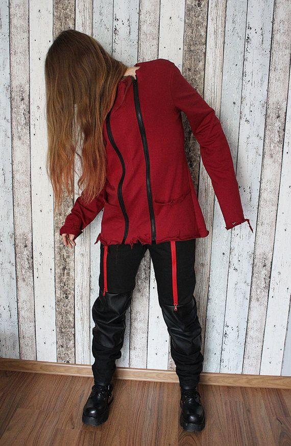 Rock Metal Women's Girl's Tunic with zips – S/M – bio eco