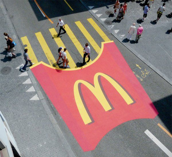SO GOOD. want. a bit. now...McDonalds, Zebra Crossing #prstunts