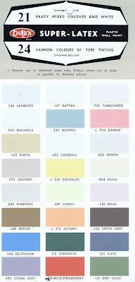 Dulux Mid-Century Paint Brochure, Paint Chips