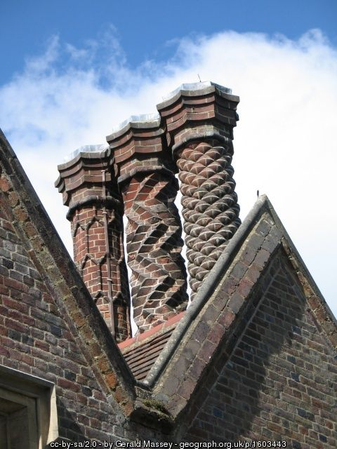 Ornate Chimney Stacks, the Old Vicarage,... (C) Gerald Massey :: Geograph Britain and Ireland
