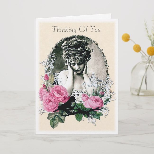 Thinking Of You Empathy Greeting Card Zazzle Com Design Card