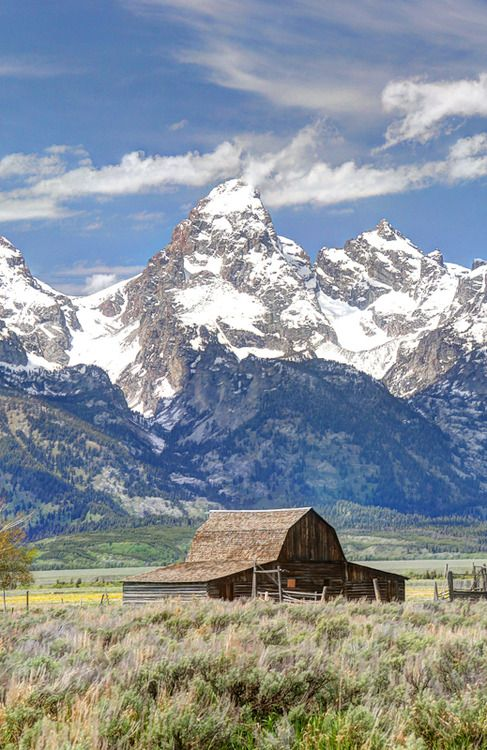 The Moulton Farm near Jackson Hole, WY  INCREDIBLE!                                                                                                                                                      More