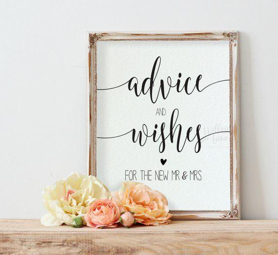 Wedding Advice Sign Template Printable Advice Cards Wedding Etsy Wedding Advice Cards Wedding Signs Advice Cards