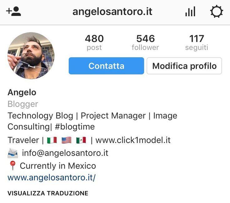 Biografia Instagram follower twitter