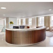 Half Round Reception Desk modern Curved Reception Desk