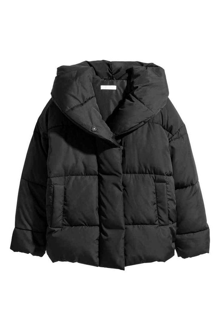 Veste matelassée à capuche - Noir - FEMME | H&M FR
