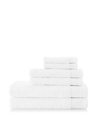 Espalma Brilliance 6-Piece Towel Set, White