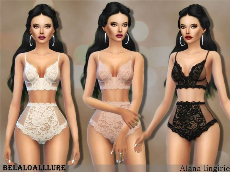 set contain lace romantic bra and bottom , enjoy .  Found in TSR Category 'Sims 4 Female Clothing Sets'