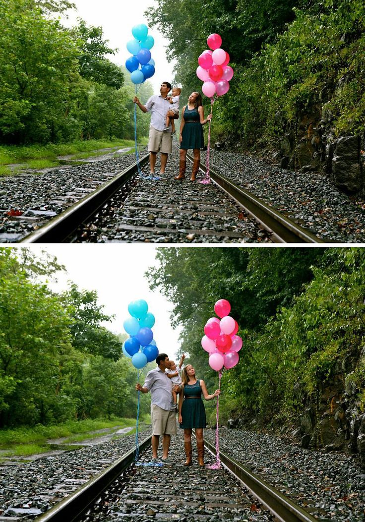 Balloon Gender Reveal Photoshoot....love this idea!!