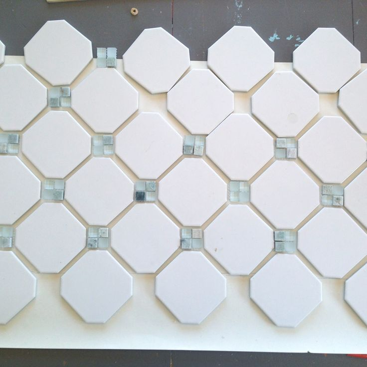 Fireplace Makeover Octagon Amp Dot Tile Tiled Fireplace