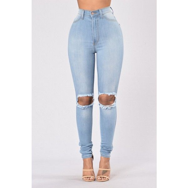 Tough Luck Jeans Light Blue ($30) ❤ liked on Polyvore featuring jeans, skinny fit jeans, blue jeans, light wash high waisted skinny jeans, high-waisted jeans and high rise jeans