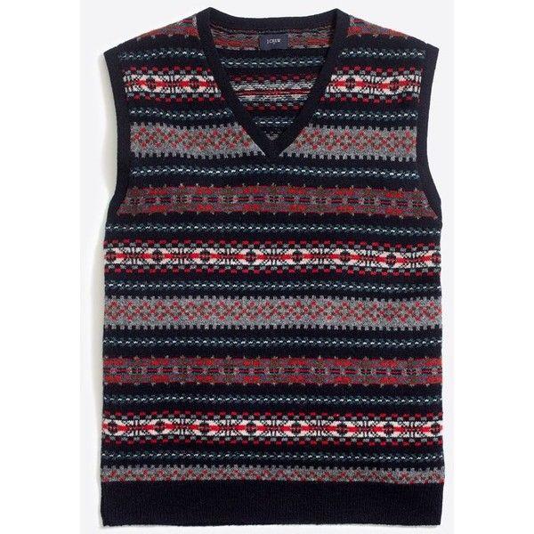 Lambswool Fair Isle sweater-vest (1,400 EGP) ❤ liked on Polyvore ...