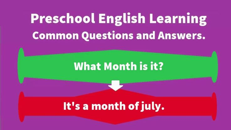 Preschool English Learning-Most Common Questions and Answers in English part-03