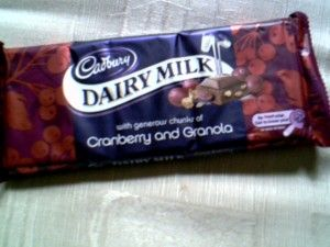Cadbury Dairy Milk Cranberry and Granola