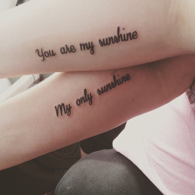 You are my sunshine, my only sunshine #firsttattoo #mothersdaygift #mommyanddaughter #matchingtattoo