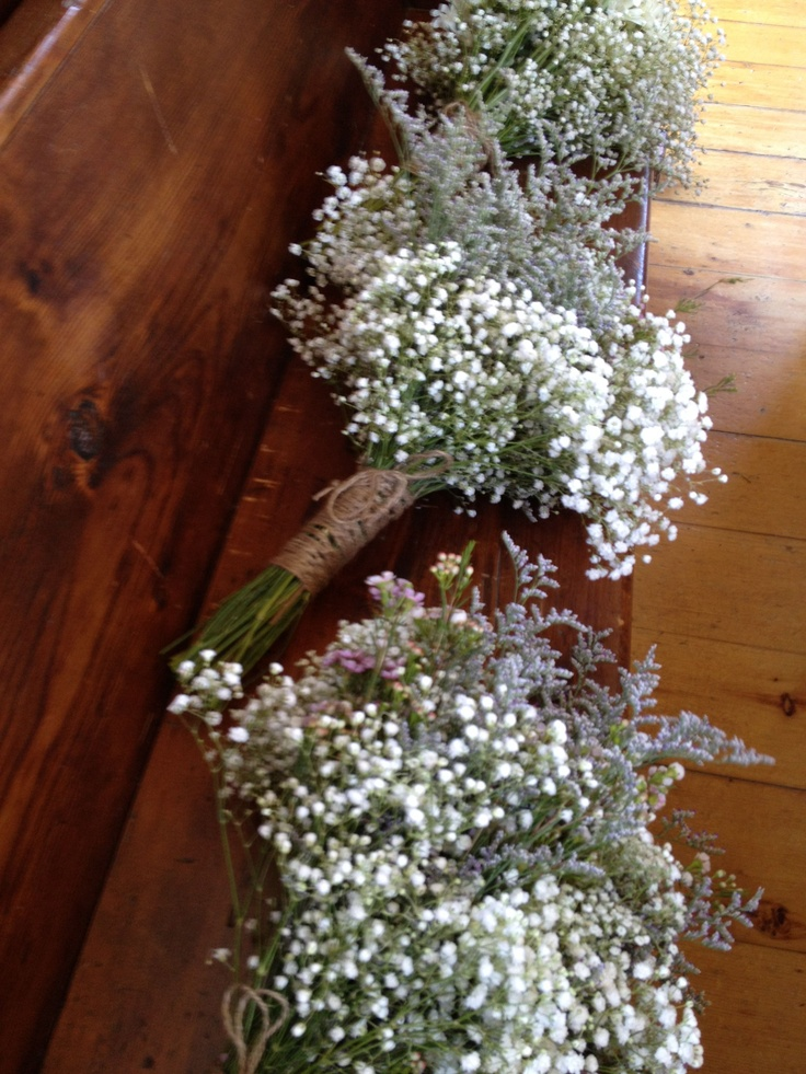 Bridal Bouquets or Bushels carefully picked from your Meadow of Wild Flowers? Two of the same we say! Braided twine to keep the natural look together. Romantic, wild & breathtaking!