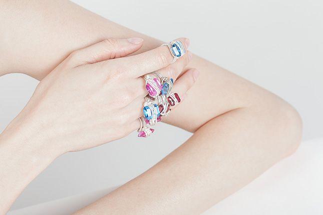 Martina Loncar #fuorisalone #din2016 #lambrate #rings #handmade #colours #pinDin