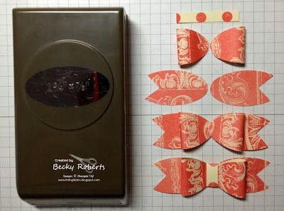 Inking Idaho: Stampin' Up! Oval Punch Bow Picture Tutorial