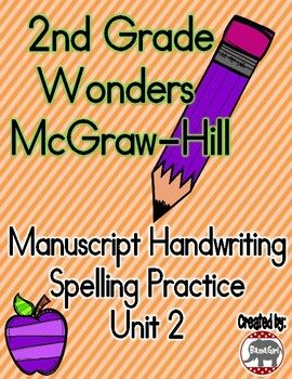 Do your students need extra practice with their manuscript handwriting?  Use these practice pages to help your students learn to correctly spell their spelling words while also perfecting their manuscript writing skills!  These spelling sheets are based on the 2nd grade Wonders McGraw-Hill reading series.