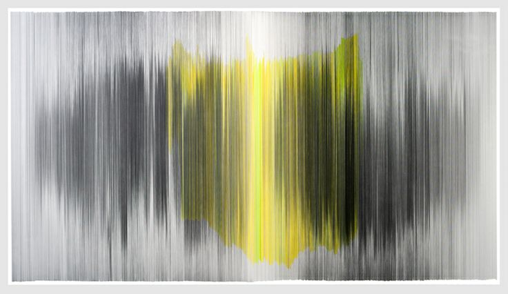 Anne Lindberg  parallel 34 2012 graphite and colored pencil on cotton mat board 104 by 51 inches Private Collection, Chicago, IL