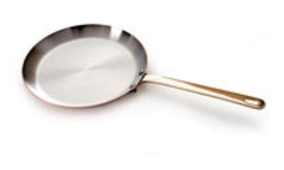 """World Cuisine 45218-25 Round Crepe Pan w/ Bronze Handle, 10-in, Stainless Lined Copper, Each by World Cuisine. $278.10. World Cuisine 45218-25 Round Crepe Pan w/ Bronze Handle, 10-in, Stainless Lined Copper. Crepe Pan, 10"""" diameter, round, stainless steel lined copper, bronze handle"""