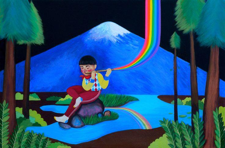 Paula Duro- kilómetro cero (2009)  Pintura 100 x 150 cm.
