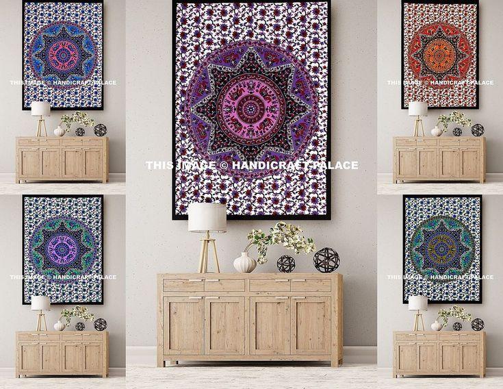 Elephant Mandala Indio Hecho a Mano Colgante De Pared Póster de algodón cubierta de tabla Cartel | Hogar y jardín, Decoración para interiores, Tapices | eBay!