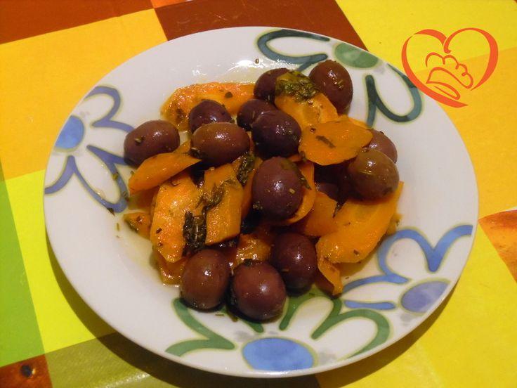 Carote agrodolci con olive