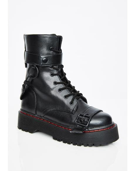 1ebe4ee3bb039 Madhouse Buckle Boots #dollskill #cyber #city #digital #currentmood #buckle  #boots #combat #black