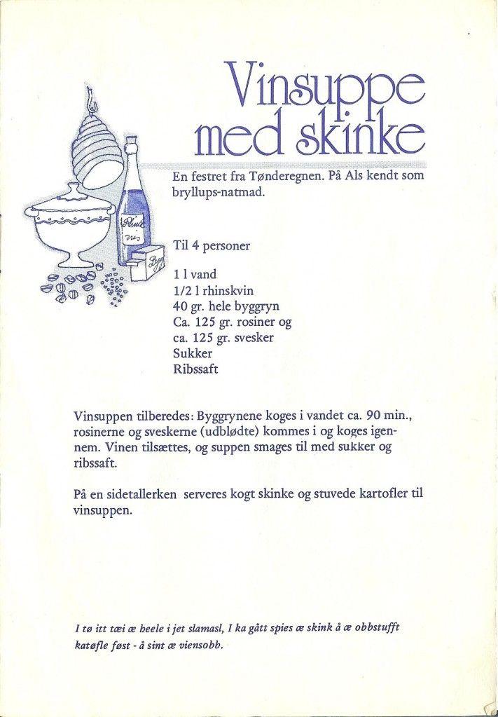 Vinsuppe med skinke