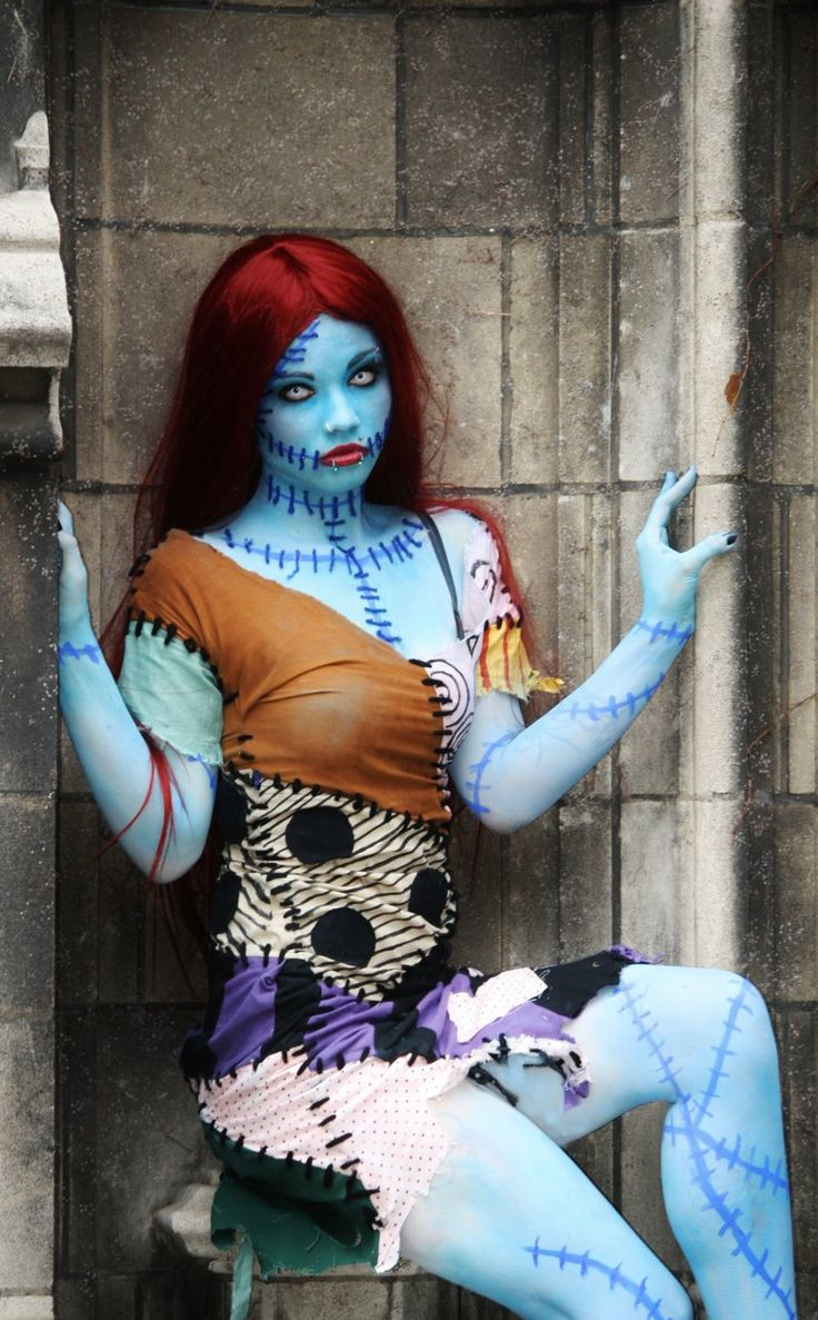 Sally, The Nightmare Before Christmas cosplay. View more EPIC cosplay at http://pinterest.com/SuburbanFandom/cosplay/