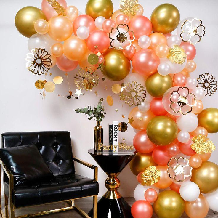 Gold and Rose Gold Balloon Garland Kit