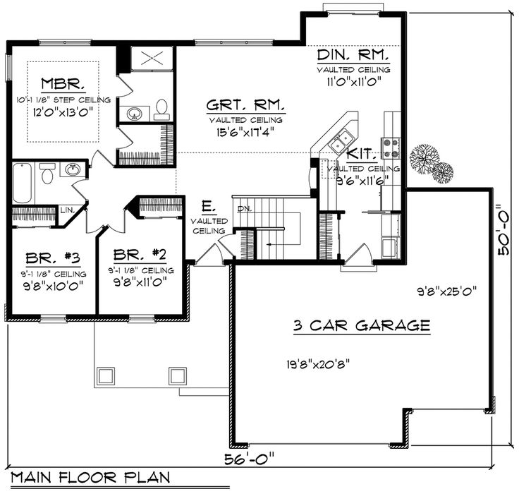 Houseplanscom Ranch Main Floor Plan Plan 70 1159