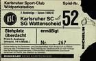 #Ticket  Ticket II. BL 86/87 Karlsruher SC  SG Wattenscheid 09 #nederland