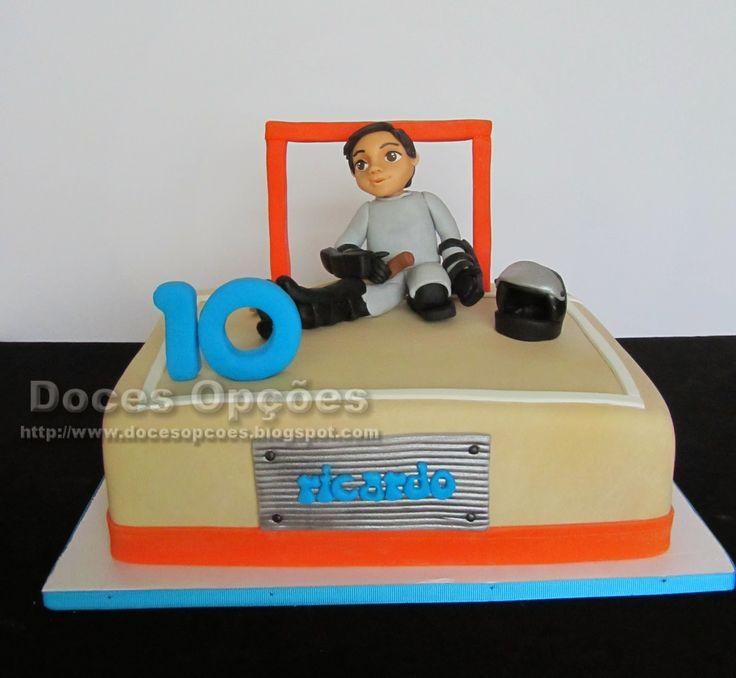 Doces Opções: Bolo de aniversário do Ricardo guarda-redes de hóq...