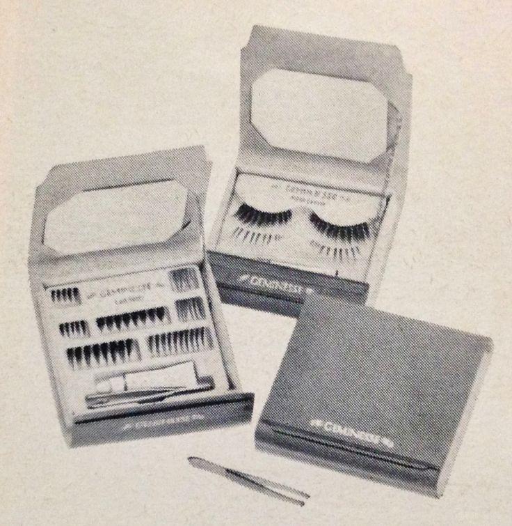 "Max Factor ""Geminesse"" Upper and Lower False Eyelashes, 1970"