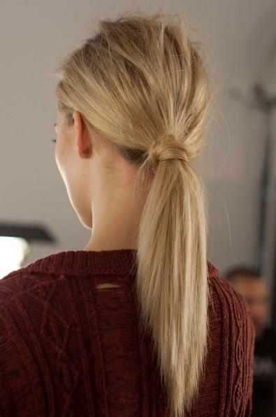 hair wrapped pony...I DO THIS EVERYTIME I DO A PONYTAIL! :)