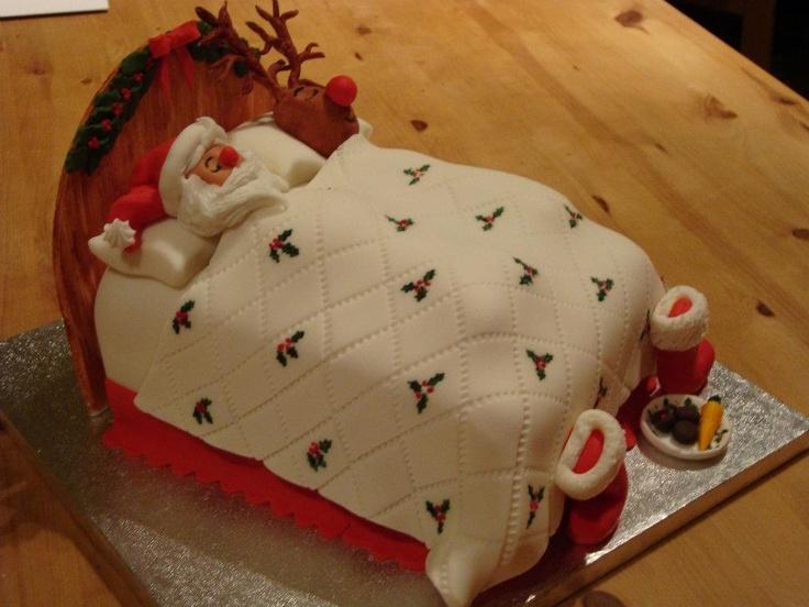 Santa cake decorating ideas