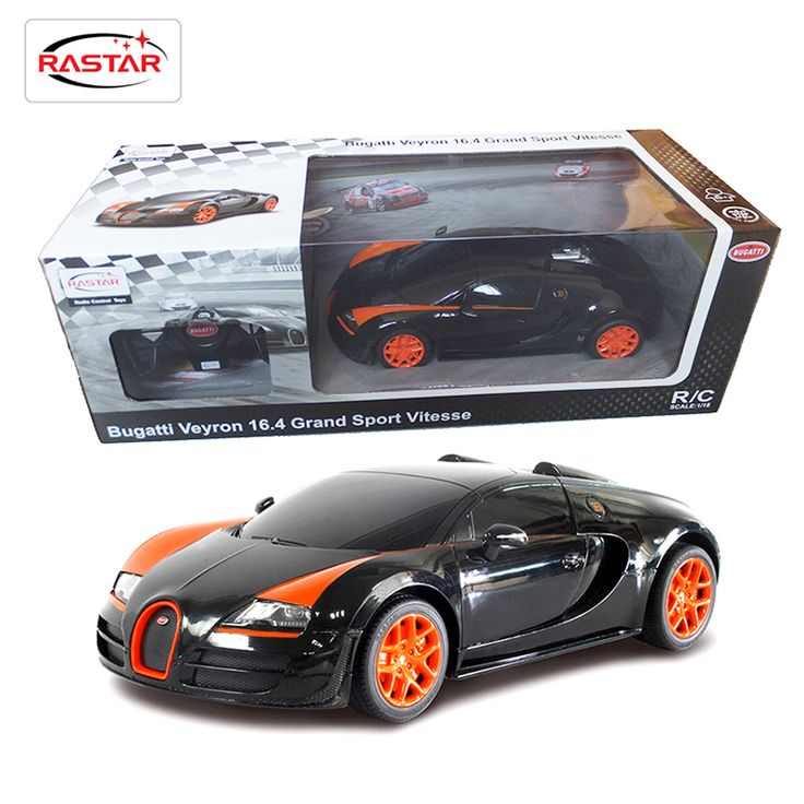Rastar Licensed 1:18 RC Cars Remote Control Car Toys For Boys Machines On The Radio Controlled Bugatti Grand Sport Vitesse 53900