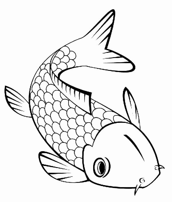 Koi Fish Coloring Page Fresh Cute Little Koi Fish Coloring Pages Download Print Koi Fish Drawing Fish Outline Fish Coloring Page