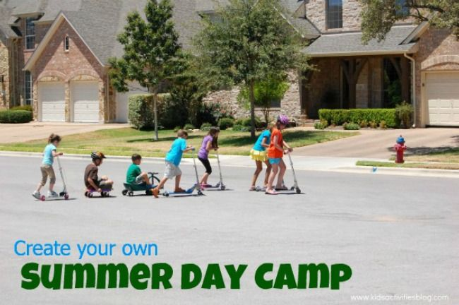 Create Your Own Summer Day Camp--good idea for older kids/neighbors