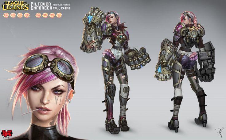 League Of Legends Character Design Contest : Vi official concept art riotzeronis league of legends