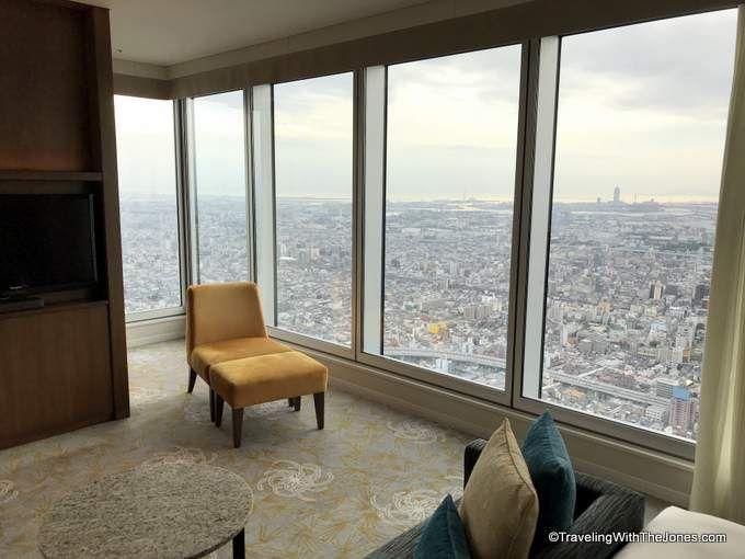 corner view, room #4723, Marriott Osaka Miyako hotel