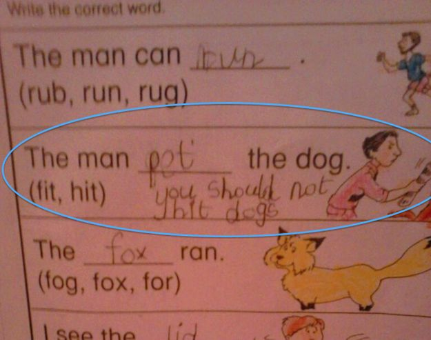 Aw, some kids.   The 28 Funniest Notes Written By Kids In 2013